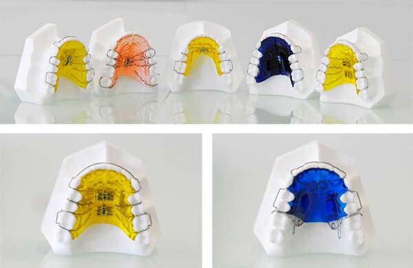 пластины для зубов одночелюстные