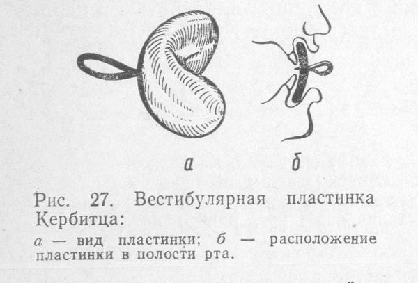 Пластинка кербитца ортодонтия