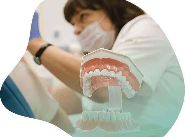 Короткие верхние зубы